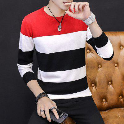 Fashion Casual Stripes Slim MenS SweatersMens Sweaters &amp; Cardigans<br>Fashion Casual Stripes Slim MenS Sweaters<br><br>Collar: Round Neck<br>Material: Cotton<br>Package Contents: 1 x Sweaters<br>Package size (L x W x H): 1.00 x 1.00 x 1.00 cm / 0.39 x 0.39 x 0.39 inches<br>Package weight: 0.6600 kg<br>Size1: M,XL,2XL,3XL<br>Sleeve Length: Full<br>Type: Cardigans
