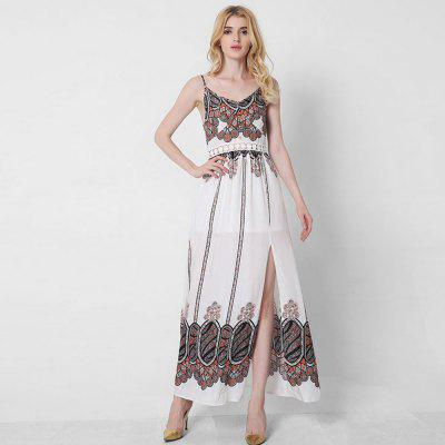 Women Summer Ethnic Bohemian Harness Printed Beach DressMaxi Dresses<br>Women Summer Ethnic Bohemian Harness Printed Beach Dress<br><br>Dresses Length: Ankle-Length<br>Elasticity: Nonelastic<br>Fabric Type: Cotton and kapok hemp<br>Material: Cotton Blend, Cotton<br>Neckline: Spaghetti Strap<br>Package Contents: 1XDress<br>Pattern Type: Print<br>Season: Summer<br>Silhouette: A-Line<br>Sleeve Length: Sleeveless<br>Style: Bohemian<br>Weight: 0.3000kg<br>With Belt: No