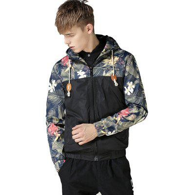 MenS Autumn and Winter Self-Cultivation Hooded Printing Splicing Fashion Casual Tide Hoodie JacketMens Jackets &amp; Coats<br>MenS Autumn and Winter Self-Cultivation Hooded Printing Splicing Fashion Casual Tide Hoodie Jacket<br><br>Clothes Type: Jackets<br>Collar: Hooded<br>Material: Polyester<br>Package Contents: 1xJacket<br>Season: Fall<br>Shirt Length: Regular<br>Sleeve Length: Long Sleeves<br>Style: Fashion<br>Weight: 0.3000kg
