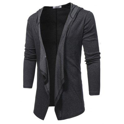 New Fashion Collar V Solid All-Match Slim Men Cardigan Coat