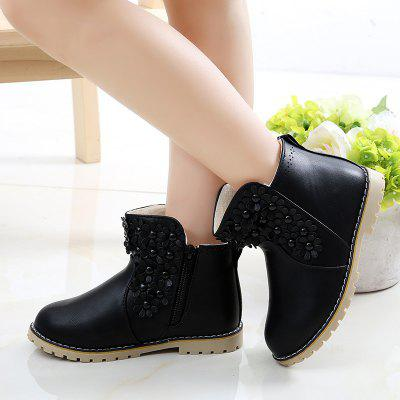Leather Martin Boots Autumn WinterGirls shose<br>Leather Martin Boots Autumn Winter<br><br>Available Size: 26-35<br>Boot Type: Fashion Boots<br>Closure Type: Zip<br>Embellishment: Flowers<br>Gender: Baby Girls<br>Item Type: Boots<br>Lining Material: Plush<br>Package Contents: 1 x Pair of Shoes<br>Package weight: 0.6000 kg<br>Seasons: Winter,Spring/Fall<br>Upper Material: PU