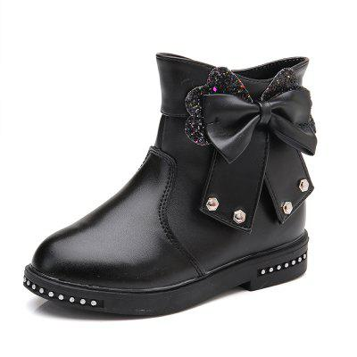 Buy BLACK 29 Leather Martin Boots Children Girls Shoes for $34.10 in GearBest store