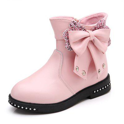 Buy PINK 28 Leather Martin Boots Children Girls Shoes for $34.10 in GearBest store