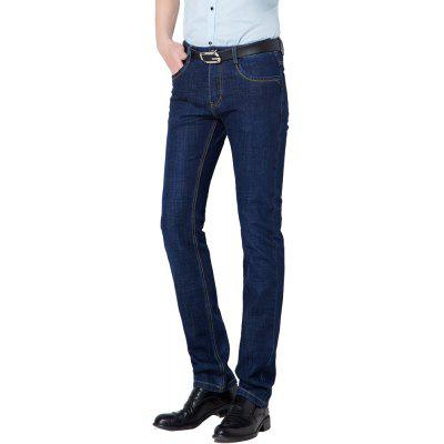 Business Casual Pockets Zipper Fly Straight  JeansMens Pants<br>Business Casual Pockets Zipper Fly Straight  Jeans<br><br>Closure Type: Zipper Fly<br>Elasticity: Micro-elastic<br>Fabric Type: Broadcloth<br>Fit Type: Skinny<br>Front Style: Flat<br>Length: Normal<br>Material: Acetate<br>Package Contents: 1xJeans<br>Package size (L x W x H): 1.00 x 1.00 x 1.00 cm / 0.39 x 0.39 x 0.39 inches<br>Package weight: 0.6800 kg<br>Pant Style: Straight<br>Pattern Type: Solid<br>Style: Casual<br>Thickness: Standard<br>Waist Type: Mid<br>Wash: Dark<br>With Belt: No