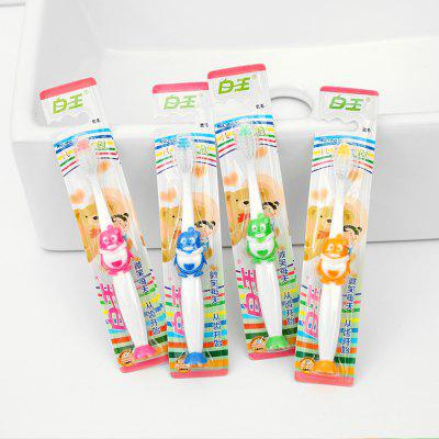 4PCSCHILDRENS Toothbrush With Suction Cup Q Sister Superfine Soft Hair Care Gingival Baby Kids Toothbrush