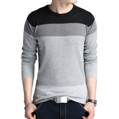 Fashion Striped Knitwear Men Autumn Pullover Sweaters