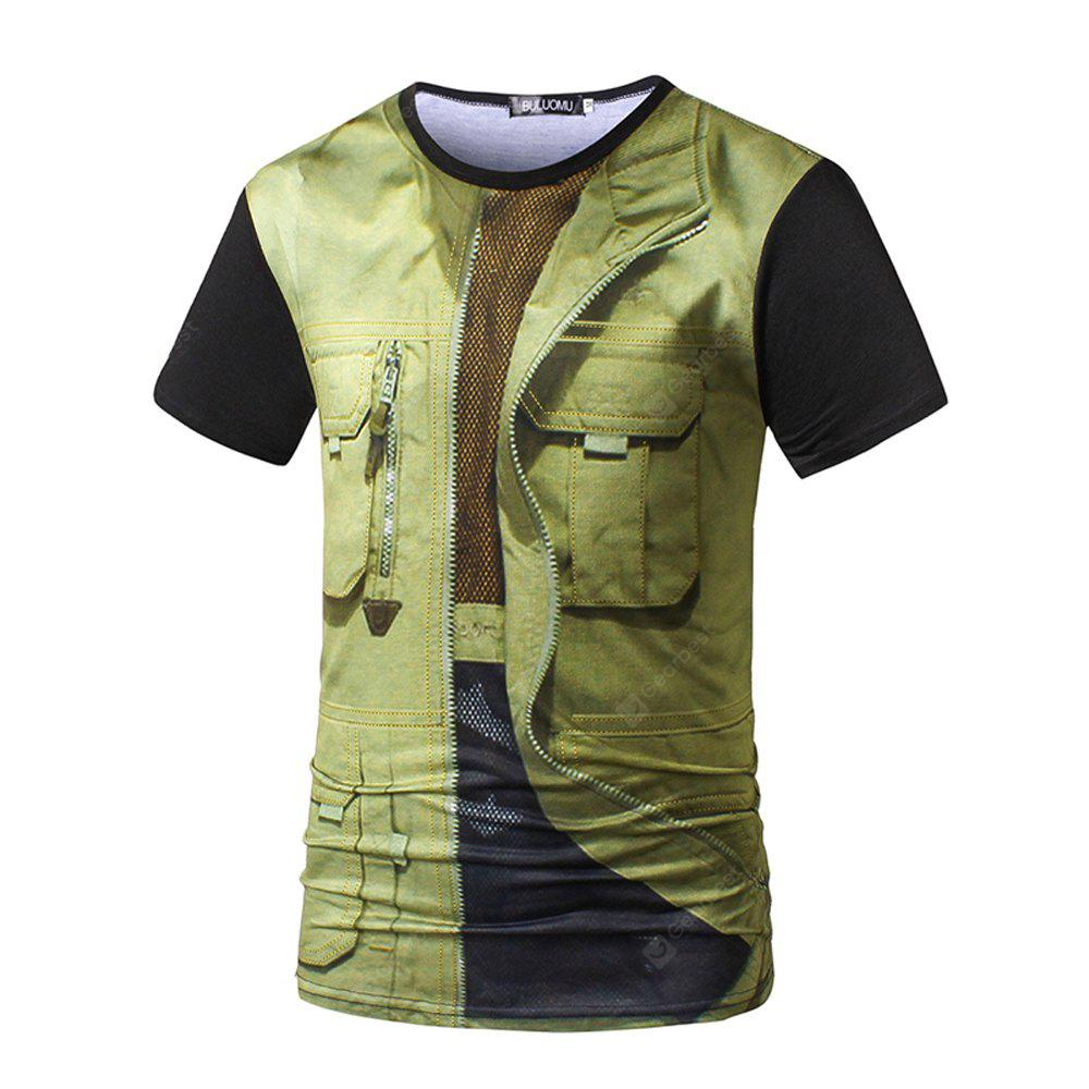 Summer Short-Sleeved 3D Casual Men'S T-Shirt