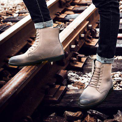 """Young Fashion Male Martin ShoesMens Boots<br>Young Fashion Male Martin Shoes<br><br>Boot Height: Ankle<br>Boot Type: Riding/Equestrian<br>Closure Type: Lace-Up<br>Embellishment: None<br>Gender: For Men<br>Heel Hight: Flat(0-0.5"""")<br>Heel Type: Low Heel<br>Outsole Material: Rubber<br>Package Contents: 1 x shoes ?pair?<br>Pattern Type: Others<br>Season: Winter<br>Toe Shape: Round Toe<br>Upper Material: PU<br>Weight: 2.3100kg"""