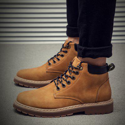 """Winter Warm Fashion Casual Men Martin ShoesMens Boots<br>Winter Warm Fashion Casual Men Martin Shoes<br><br>Boot Height: Ankle<br>Boot Type: Fashion Boots<br>Closure Type: Lace-Up<br>Embellishment: None<br>Gender: For Men<br>Heel Hight: Flat(0-0.5"""")<br>Heel Type: Flat Heel<br>Outsole Material: Rubber<br>Package Contents: 1 x shoes ?pair?<br>Pattern Type: Others<br>Season: Winter<br>Toe Shape: Round Toe<br>Upper Material: Leather<br>Weight: 2.1000kg"""