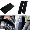 2PCS/PAIR Car Safety Seat Belt Shoulder Pads Cover Cushion Harness Comfortable Pad High Quality Inexpensive Black Seat B - BLACK