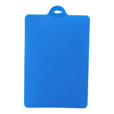 Buy Kitchen Cooking Tools Flexible PP Plastic Non-Slip Hang Hole Cutting Board Food Slice Cut Chopping Block BLUE for $3.14 in GearBest store