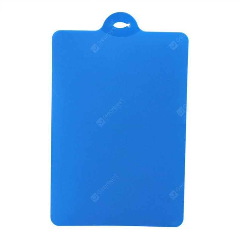 Kitchen Cooking Tools Flexible PP Plastic Non-Slip Hang Hole Cutting Board Food Slice Cut Chopping Block BLUE