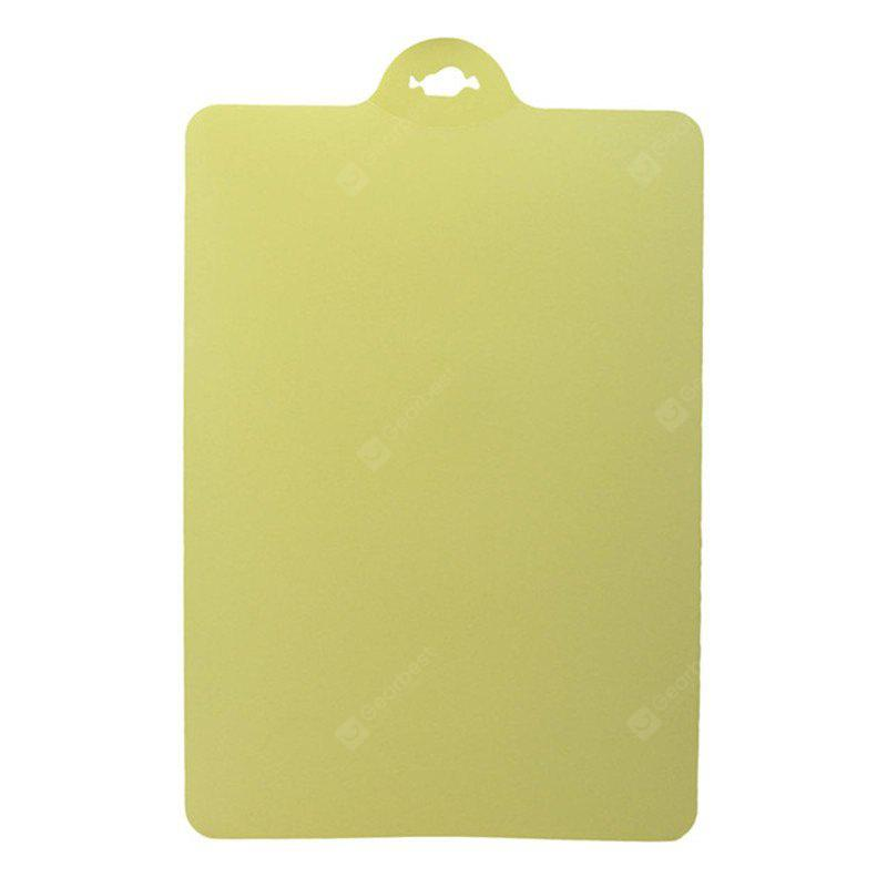 Kitchen Cooking Tools Flexible PP Plastic Non-Slip Hang Hole Cutting Board Food Slice Cut Chopping Block BEIGE