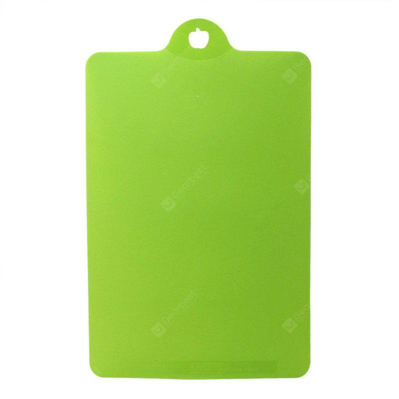 Kitchen Cooking Tools Flexible PP Plastic Non-Slip Hang Hole Cutting Board Food Slice Cut Chopping Block GREEN