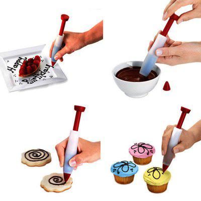 Buy Silicone Food Writing Pen Chocolate Decorating Tools Cake Mold Cream Cup,Cookie Icing Piping Pastry Nozzles Kitchen Acce RED for $2.02 in GearBest store