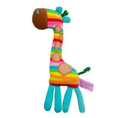 Giraffe Shape Bed Hanging Hand Bell Ring Rattle Kid Crib Toy