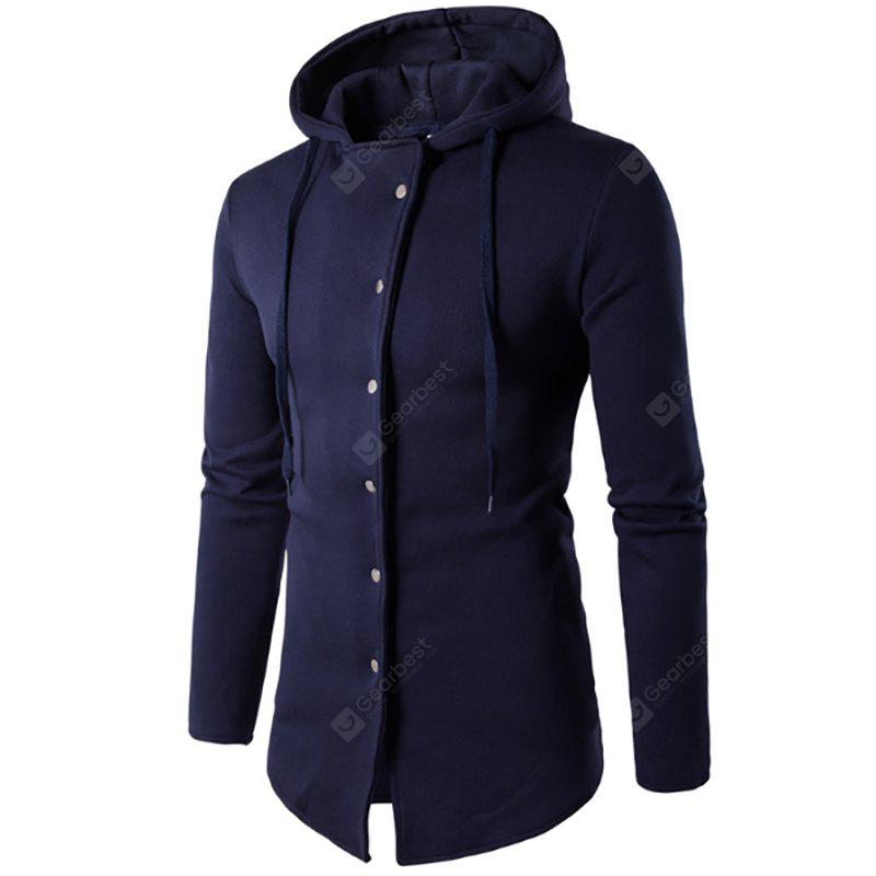 Men'S New Stylish Six Buckle Design Hoodie