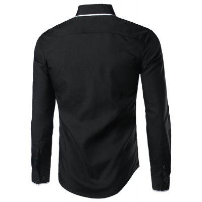 MenS New Double-Decked Collar Fight Color Slim Fashion Long-Sleeved ShirtMens Shirts<br>MenS New Double-Decked Collar Fight Color Slim Fashion Long-Sleeved Shirt<br><br>Collar: Turn-down Collar<br>Material: Cotton Blends<br>Package Contents: 1x Shirts<br>Shirts: None<br>Shirts Type: Casual Shirts<br>Sleeve Length: Full<br>Weight: 0.2200kg