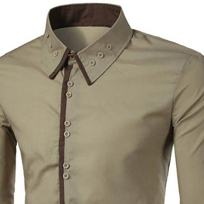 MenS New Collar Buckle Design Placket Spell Color Long-Sleeved ShirtMens Shirts<br>MenS New Collar Buckle Design Placket Spell Color Long-Sleeved Shirt<br><br>Collar: Turn-down Collar<br>Material: Cotton Blends<br>Package Contents: 1x Shirts<br>Shirts Type: Casual Shirts<br>Sleeve Length: Full<br>Weight: 0.2200kg