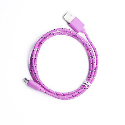 цена на 1M Braided Nylon Micro USB Charger Sync Data Charging Cable Cord for Android