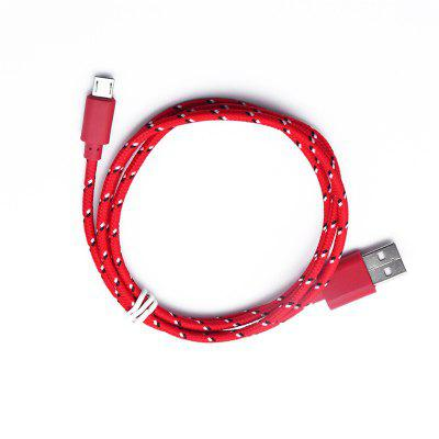 2M Braided Nylon Micro USB Charger Sync Data Charging Cable Cord for AndroidChargers &amp; Cables<br>2M Braided Nylon Micro USB Charger Sync Data Charging Cable Cord for Android<br><br>Accessories type: Cable<br>Cable Length (cm): 200<br>Interface Type: Micro USB<br>Package Contents: 1 x Cable<br>Package size (L x W x H): 11.00 x 2.00 x 1.00 cm / 4.33 x 0.79 x 0.39 inches<br>Package weight: 0.0250 kg<br>Product weight: 0.0240 kg<br>Type: Cable