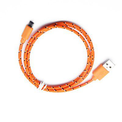 2M Braided Nylon Micro USB Charger Sync Data Charging Cable Cord for Android flat micro usb male to usb 2 0 male data sync charging cable for samsung more white 200cm