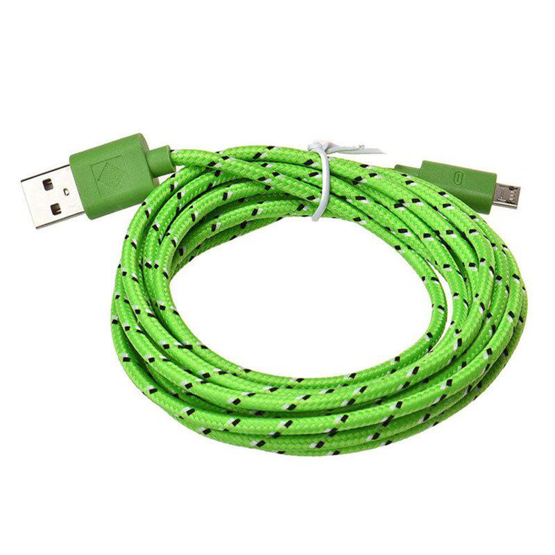 3M Braided Nylon Micro USB Charger Sync Data Charging Cable Cord for Android