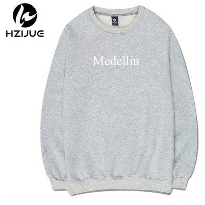 Cover with A Round Collar SweatshirtMens Hoodies &amp; Sweatshirts<br>Cover with A Round Collar Sweatshirt<br><br>Material: Cotton<br>Package Contents: 1xSweatshirt<br>Shirt Length: Regular<br>Sleeve Length: Full<br>Style: Casual<br>Weight: 0.5000kg
