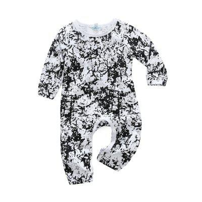 2018 spring baby clothes cotton Long Sleeve Printed Jumpsuit