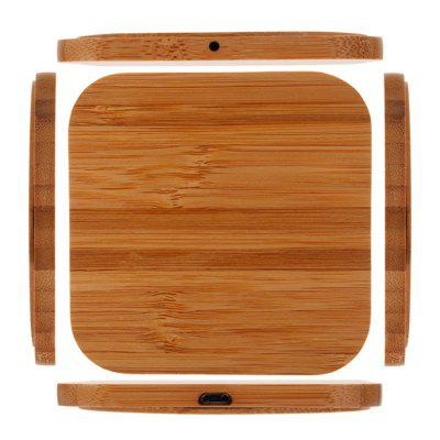 Bamboo Wooden Qi Wireless Charger Charging Pad For Qi-devices