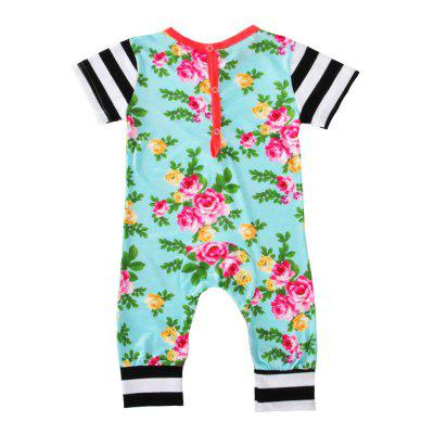 SOSOCOER Newborn Infant Bodysuits Flower Printed Striped Short Sleeved Baby Romperbaby rompers<br>SOSOCOER Newborn Infant Bodysuits Flower Printed Striped Short Sleeved Baby Romper<br><br>Brand: SOSOCOER<br>Closure Type: Pullover<br>Collar: Round Neck<br>Gender: Unisex<br>Material: Cotton<br>Package Contents: 1 x Romper<br>Pattern Style: Floral<br>Season: Summer<br>Sleeve Length: Short<br>Sleeve Style: Regular<br>Style: Personality<br>Thickness: General<br>Weight: 0.1100kg