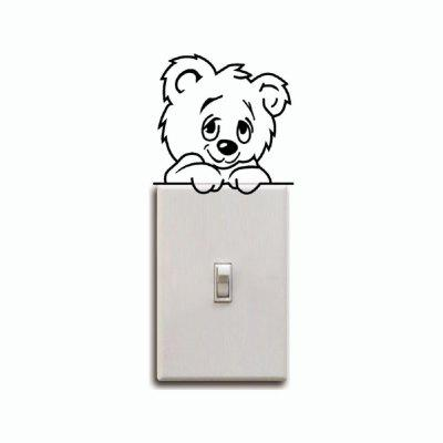Cute Bear Light Switch Sticker Cartoon Animal Vinyl Wall Sticker for Kids RoomWall Stickers<br>Cute Bear Light Switch Sticker Cartoon Animal Vinyl Wall Sticker for Kids Room<br><br>Art Style: Plane Wall Stickers, Toilet Stickers<br>Artists: Others<br>Brand: DSU<br>Color Scheme: Black<br>Effect Size (L x W): 9 x 9 cm<br>Function: Light Switch Stickers, Decorative Wall Sticker<br>Layout Size (L x W): 9 x 9 cm<br>Material: Vinyl(PVC)<br>Package Contents: 1 x Wall Sticker<br>Package size (L x W x H): 10.00 x 10.00 x 1.00 cm / 3.94 x 3.94 x 0.39 inches<br>Package weight: 0.0300 kg<br>Product size (L x W x H): 9.00 x 9.00 x 0.01 cm / 3.54 x 3.54 x 0 inches<br>Product weight: 0.0200 kg<br>Quantity: 1<br>Subjects: Fashion,Letter,Cute,Cartoon,Famous<br>Suitable Space: Living Room,Bedroom,Hotel,Kids Room,Entry,Kitchen,Pathway,Door,Corridor,Hallway,Boys Room,Game Room<br>Type: Plane Wall Sticker