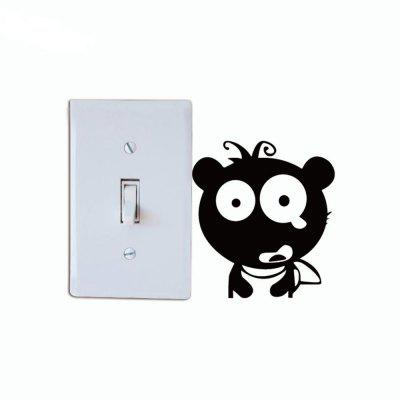 DSU  Cute Bear Switch Sticker Funny Cartoon Animal Vinyl Wall Sticker for Kids RoomWall Stickers<br>DSU  Cute Bear Switch Sticker Funny Cartoon Animal Vinyl Wall Sticker for Kids Room<br><br>Art Style: Plane Wall Stickers, Toilet Stickers<br>Artists: Others<br>Brand: DSU<br>Color Scheme: Black<br>Effect Size (L x W): 10 x 9 cm<br>Function: Decorative Wall Sticker<br>Layout Size (L x W): 10 x 9 cm<br>Material: Vinyl(PVC)<br>Package Contents: 1 x Wall Sticker<br>Package size (L x W x H): 13.00 x 13.00 x 1.00 cm / 5.12 x 5.12 x 0.39 inches<br>Package weight: 0.0300 kg<br>Product size (L x W x H): 10.00 x 9.00 x 0.01 cm / 3.94 x 3.54 x 0 inches<br>Product weight: 0.0200 kg<br>Quantity: 1<br>Subjects: Fashion,Letter,Cute,Cartoon,Famous<br>Suitable Space: Living Room,Bedroom,Hotel,Kids Room,Entry,Kitchen,Pathway,Door,Corridor,Hallway,Boys Room,Game Room<br>Type: Plane Wall Sticker