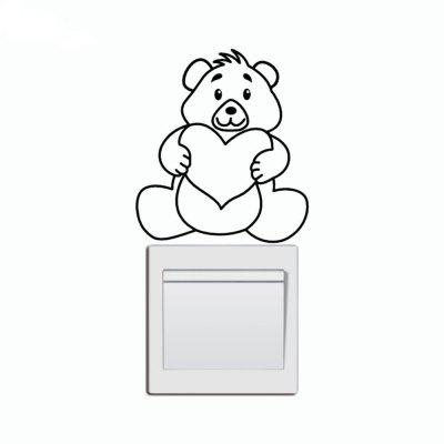 Buy DSU Cute Bear With Love Heart Light Switch Sticker Creative Cartoon Animal Vinyl Wall Decal, BLACK, Home & Garden, Home Decors, Wall Art, Wall Stickers for $2.22 in GearBest store