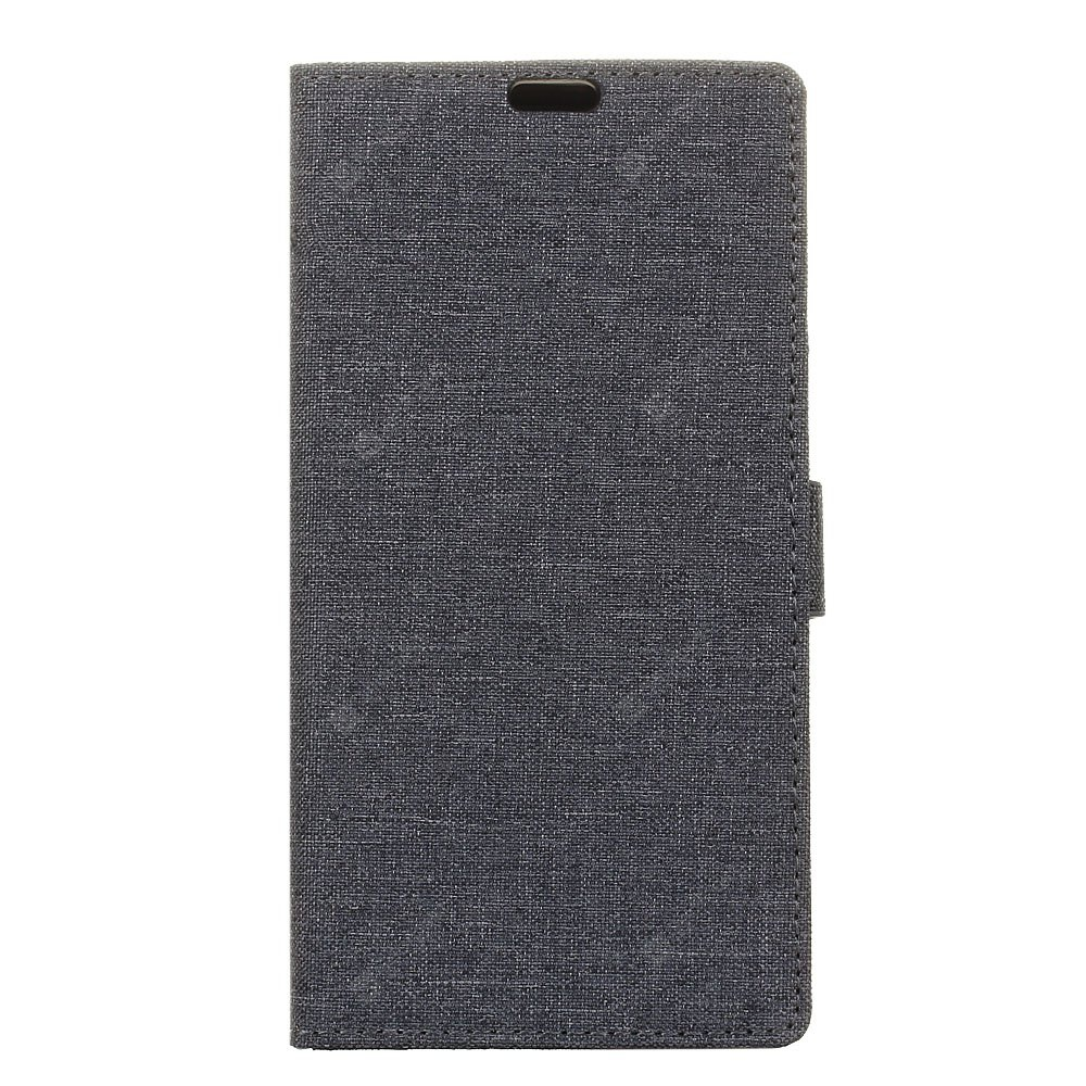 Cover Case for Redmi 5 Plus Solid Color Linen Texture Holster