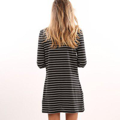 Womens Fashion High Collar Striped Long-Sleeved DressSleeveless Dresses<br>Womens Fashion High Collar Striped Long-Sleeved Dress<br><br>Dresses Length: Knee-Length<br>Elasticity: Elastic<br>Fabric Type: Woolen<br>Material: Cotton Blend<br>Neckline: Turtleneck<br>Package Contents: 1 x Dress<br>Pattern Type: Striped<br>Season: Spring<br>Silhouette: Straight<br>Sleeve Length: Long Sleeves<br>Style: Fashion<br>Weight: 0.2500kg<br>With Belt: No