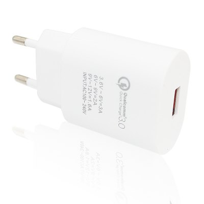 Minismile 18W Universal Qualcomm Quick Charge 3.0 Charger Power Adapter for Mobile Phones - EU Plug