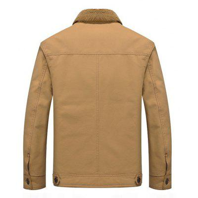 Men Velvet Padded JacketMens Jackets &amp; Coats<br>Men Velvet Padded Jacket<br><br>Clothes Type: Parkas<br>Collar: Turn-down Collar<br>Colors: Black,Khaki,Army green<br>Detachable Part: None<br>Fabric Type: Cotton<br>Hooded: No<br>Lining Material: Cotton<br>Materials: Cotton<br>Package Content: 1 X Coat<br>Package size (L x W x H): 1.00 x 1.00 x 1.00 cm / 0.39 x 0.39 x 0.39 inches<br>Package weight: 0.9500 kg<br>Pattern Type: Letter<br>Shirt Length: Regular<br>Size1: M,L,XL,4XL,2XL,3XL,5XL<br>Sleeve Style: Regular<br>Style: Casual<br>Thickness: Thickening