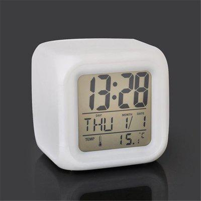 Four Square Color Small Alarm ClockWeather Station<br>Four Square Color Small Alarm Clock<br><br>Package Contents: 1 x alarm clock<br>Package size (L x W x H): 8.00 x 8.00 x 8.00 cm / 3.15 x 3.15 x 3.15 inches<br>Package weight: 0.2000 kg