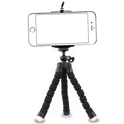 Phone General Sponge Octopus Tripod with Bluetooth Remote ControlTripods<br>Phone General Sponge Octopus Tripod with Bluetooth Remote Control<br><br>Compatible with: Mobile phone, Digital Camera<br>Folded Length (cm): 17<br>Leg Sections: 3<br>Material: Other<br>Max Height (cm): 17<br>Minimum Height (cm): 2<br>Package Contents: 1 x Tripod , 1 x Bluetooth Remote Control<br>Package size (L x W x H): 20.00 x 5.00 x 5.00 cm / 7.87 x 1.97 x 1.97 inches<br>Package weight: 0.0600 kg<br>Product size (L x W x H): 18.50 x 4.20 x 3.60 cm / 7.28 x 1.65 x 1.42 inches<br>Product weight: 0.0580 kg<br>Production type: Tripod and Tripod head