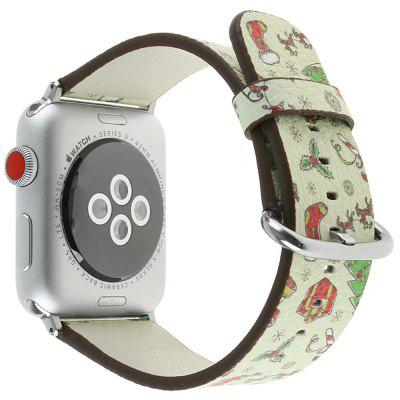 Reposição de couro genuíno de 38 mm para iWatch Series 3/2/1 Beautiful Beautiful Christmas