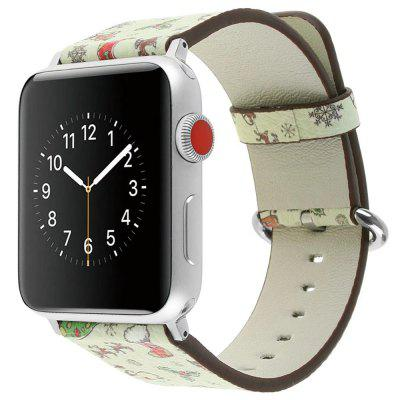 42mm Reposição de couro genuíno para iWatch Series 3/2/1 Beautiful Beautiful Christmas