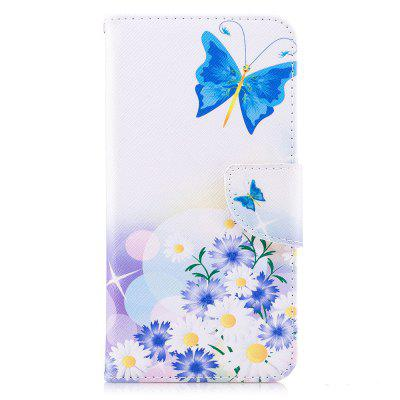 Blue Butterfly Pattern for Xiaomi Redmi Note 5A Pro Luxury Style PU Leather Mobile Phone Case Flip Cover metal ring holder combo phone bag luxury shockproof case for samsung galaxy note 8