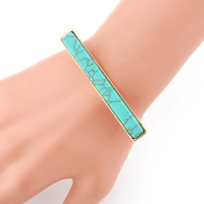 Europe and The United States New Turquoise Bracelet Bracelet High Grade Magnet Openings Hand OrnamentsBracelets &amp; Bangles<br>Europe and The United States New Turquoise Bracelet Bracelet High Grade Magnet Openings Hand Ornaments<br><br>Closure Type: Magnet<br>Gender: For Women<br>Item Type: Bangle<br>Metal Type: Zinc Alloy<br>Necklace Type: Other<br>Package Contents: 1 X bracelet<br>Package size (L x W x H): 1.00 x 1.00 x 1.00 cm / 0.39 x 0.39 x 0.39 inches<br>Package weight: 0.1000 kg<br>Product size (L x W x H): 1.00 x 1.00 x 1.00 cm / 0.39 x 0.39 x 0.39 inches<br>Setting Type: Channel Setting<br>Shape/Pattern: Gemetric<br>Stone Color: Green<br>Style: Trendy<br>Surface Plating: 18K Gold Plated
