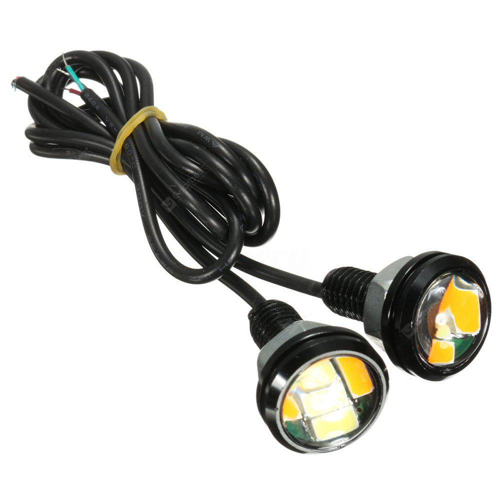 20PCS MINI Design 1 Inch 2W White Amber Dual Colors LED Eagle Eye DRL Bulb IP68 Waterproof LED DRL Fitted for All Cars