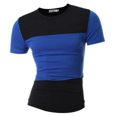 Mens Daily Sports Plus Size Color Block Patchwork Short Sleeves Cotton T-shirtMens T-shirts<br>Mens Daily Sports Plus Size Color Block Patchwork Short Sleeves Cotton T-shirt<br><br>Collar: Round Neck<br>Material: Cotton<br>Package Contents: 1  X T-shirt<br>Pattern Type: Patchwork<br>Sleeve Length: Short Sleeves<br>Style: Casual<br>Weight: 0.1800kg