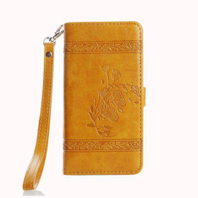 for IPhone X Case Cover Embossed Oil Wax Lines Phone Case Cover PU Leather Wallet Style Case