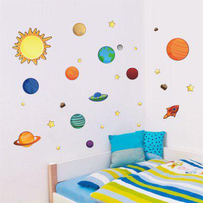 Solar System Planets Cartoon Wall Sticker Kids Room Decal Waterproof RemovableWall Stickers<br>Solar System Planets Cartoon Wall Sticker Kids Room Decal Waterproof Removable<br><br>Effect Size (L x W): 170x50cm<br>Function: Decorative Wall Sticker<br>Layout Size (L x W): 90x30cm<br>Material: Vinyl(PVC)<br>Package Contents: 1 x Wall Sticker<br>Package size (L x W x H): 30.00 x 4.00 x 4.00 cm / 11.81 x 1.57 x 1.57 inches<br>Package weight: 0.1400 kg<br>Product weight: 0.0900 kg<br>Quantity: 1<br>Subjects: Cartoon<br>Suitable Space: Bedroom,Kids Room,Kids Room<br>Type: Plane Wall Sticker