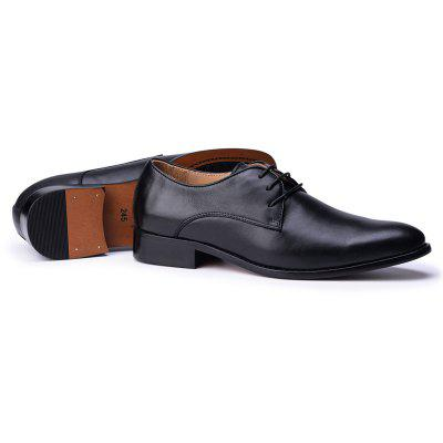 Mens Business Shoes Leather Luxury Dress Shoes Men Four Seasons Male Fashion Flats Pointed Toe Work ShoesFormal Shoes<br>Mens Business Shoes Leather Luxury Dress Shoes Men Four Seasons Male Fashion Flats Pointed Toe Work Shoes<br><br>Available Size: 38 39 40 41 42 43 44<br>Closure Type: Lace-Up<br>Embellishment: None<br>Gender: For Men<br>Occasion: Dress<br>Outsole Material: Rubber<br>Package Contents: 1xShoes(pair)<br>Pattern Type: Solid<br>Season: Spring/Fall<br>Toe Shape: Pointed Toe<br>Toe Style: Closed Toe<br>Upper Material: Genuine Leather<br>Weight: 1.9448kg