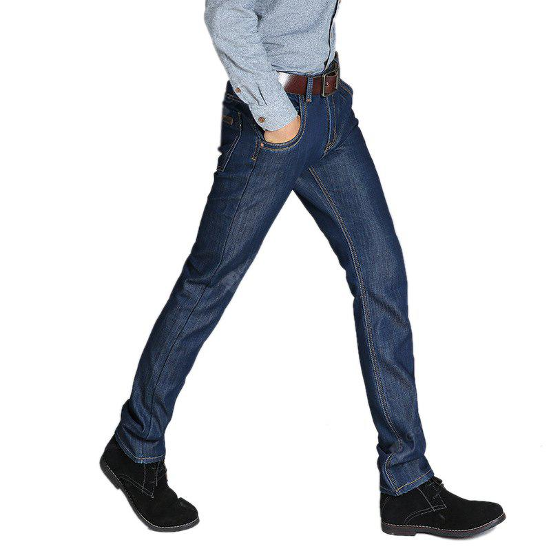 Daifansen Men's Winter Casual and Cashmere Skinny Jeans